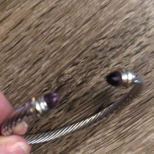 David Yurman Amethyst cable bracelet